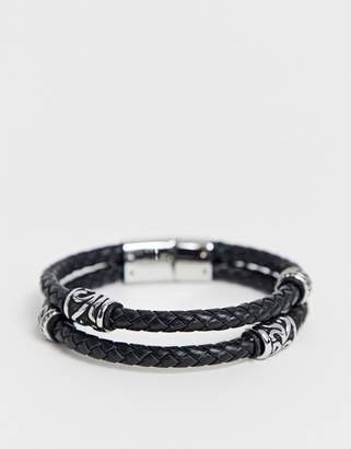 4e01aa43b Mens Leather Bracelets - ShopStyle UK