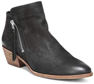 Sam Edelman Women's Packer Almond Toe Leather Low Heel Booties