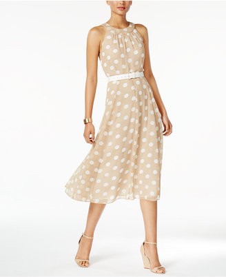 Tommy Hilfiger Polka-Dot Belted Halter Dress $134 thestylecure.com