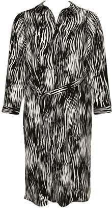 Evans Black Zebra Print Shirt Dress