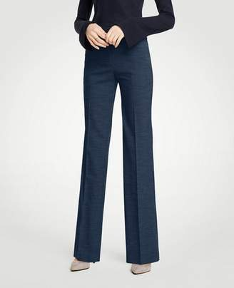 Ann Taylor The Petite Trouser In Textured Stretch