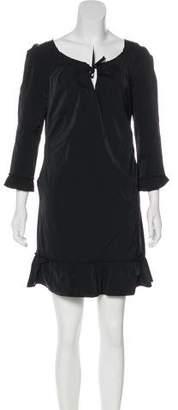 Nina Ricci Mini Pleated-Accented Dress