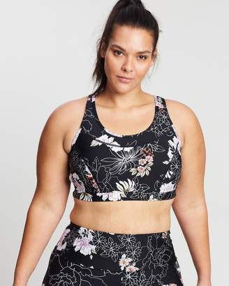 Running Bare Classic Stop Traffic Action Back Keyhole Crop Top