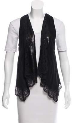 Anna Sui Lace-Trimmed Silk Vest