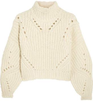 Isabel Marant - Farren Cropped Ribbed Wool-blend Turtleneck Sweater - Ecru