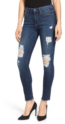 Women's Good American Good Legs Destroyed Skinny Jeans $189 thestylecure.com