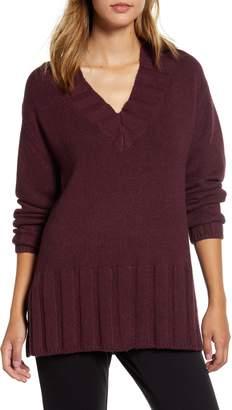 Lou & Grey Rib Trim Tunic Sweater
