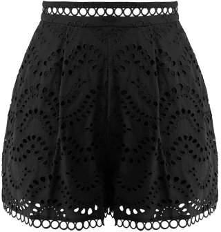 Zimmermann Jaya Wave Cotton Shorts - Womens - Black