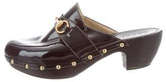 Gucci Studded Patent Leather Clogs