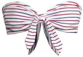 Shoshanna Bow Bandeau Bikini Top