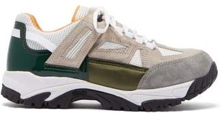 Maison Margiela Security Mesh And Suede Trainers - Mens - Green