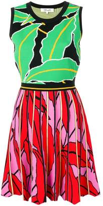 Diane von Furstenberg printed flared knit dress