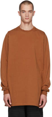 Rick Owens Brown Crewneck Sweatshirt