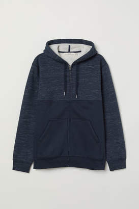 H&M Pile-lined Hooded Jacket - Blue