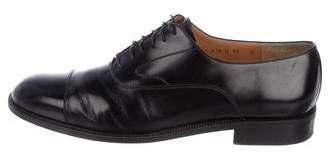 Salvatore Ferragamo Cap-Toe Leather Oxfords
