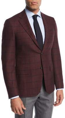 Canali Windowpane Cashmere Two-Button Sport Coat