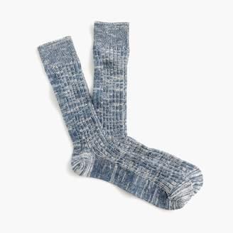 J.Crew Ribbed marled cotton socks