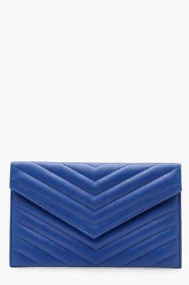 boohoo Chevron Envelope Clutch