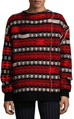 Calvin Klein Men's Float-Back Jacquard Sweater