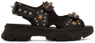 Gucci Black Studded Aguru Sandals