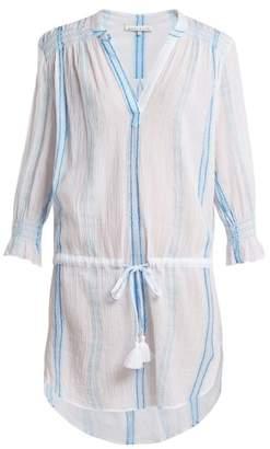Heidi Klein Gilli smocked cotton tunic