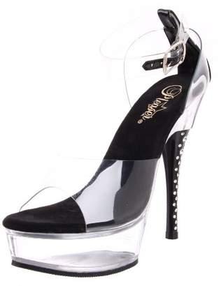 Pleaser USA Women's Diamond-642 Ankle-Strap Sandal
