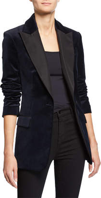 A.L.C. Steele One-Button Velvet Jacket