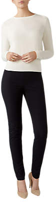 Pure Collection Cotton Stretch Trousers, Black