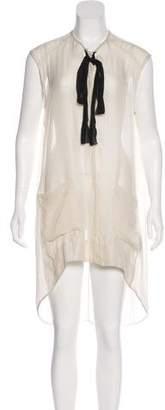 Raquel Allegra Silk Button-Up Dress