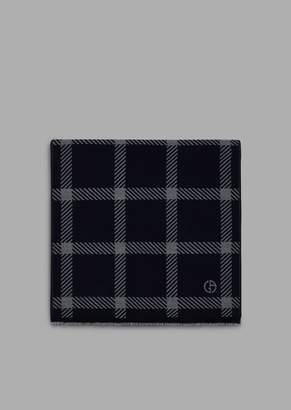 Giorgio Armani Scarf With Jacquard-Knit Maxi Squares
