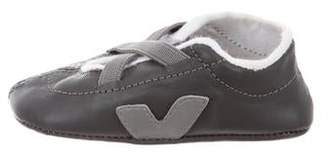 Veja Boys' Leather Round-Toe Sneakers