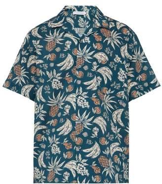 Desmond & Dempsey Fruit Print Cotton Poplin Pyjama Shirt - Mens - Multi
