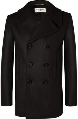 Saint Laurent Double-Breasted Virgin Wool Peacoat