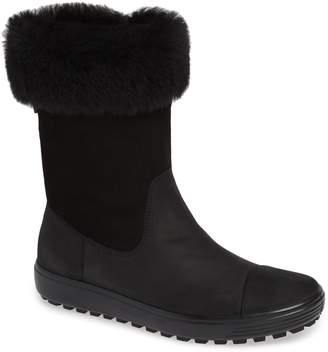 Ecco Soft 7 Tred Waterproof Genuine Shearling Lined Boot