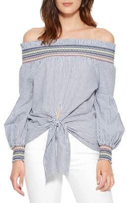 Parker Emmanuelle Stripe Off the Shoulder Top