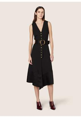 Derek Lam Sleeveless V-Neck Dress With Snap Detail