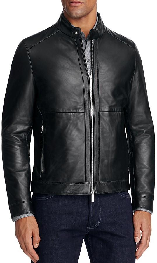 Hugo BossBOSS Nortilo Leather Jacket