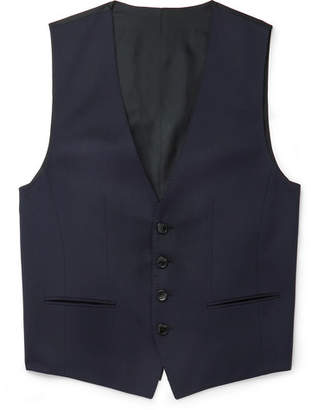 HUGO BOSS Blue Wilson Slim-Fit Super 120s Virgin Wool Waistcoat