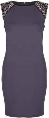 Yumi London Embellished Beaded Bodycon Dress