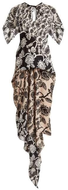 Deane Mexican-rose print dress