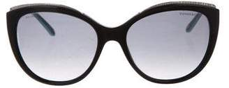 Tiffany & Co. Crystal-Trimmed Gradient Sunglasses