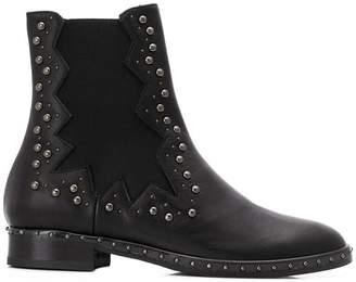 Marc Ellis stud embellished chelsea boots