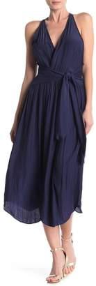 Ramy Brook Elia Smocked Waist Midi Dress