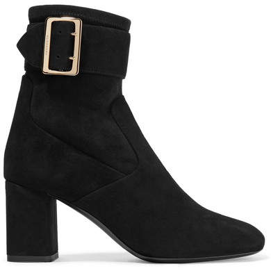 Burberry - Britannia Suede Ankle Boots - Black