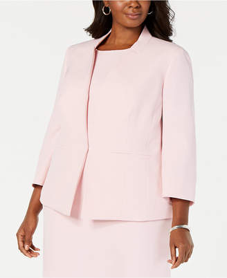 Kasper Plus Size Inverted-Collar Blazer