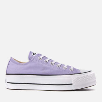 53e66a670aba Converse Chuck Taylor All Star Lift Ox Trainers - Washed Lilac Black White