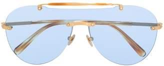 Brioni aviator frame sunglasses