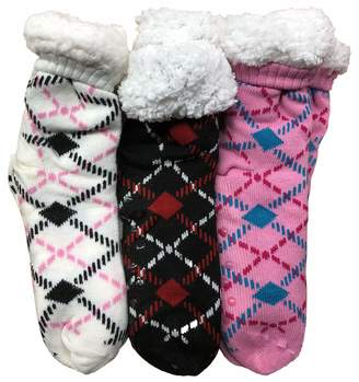 7cb6a51e5158 Prestige Edge 3 Pairs of Sherpa Fleece Lined Slipper Socks