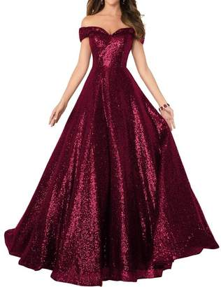 Dannifore Women's Lace-up Ball Gowns A-line Long Formal Prom Evening Dress in