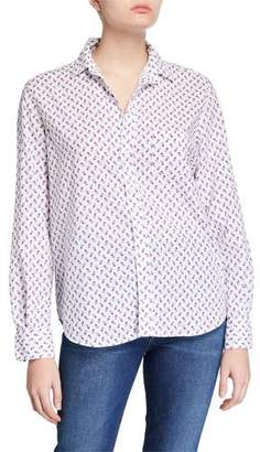 Frank And Eileen Eileen Button-Down Printed Chambray Shirt